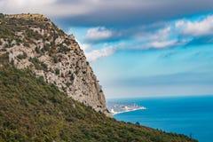 Mount Mshatka-Kayasy in Foros. The south coast of Crimea royalty free stock photography