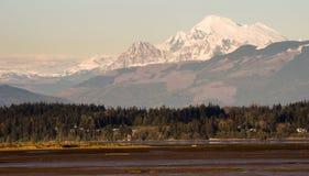 Mount Mt Baker Puget Sound North Cascades Padilla Bay Stock Images