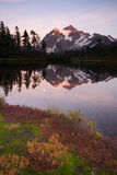 Mount Mt. Shuskan High Peak Picture Lake North Cascades Royalty Free Stock Photos