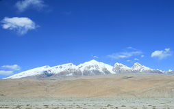Mount Muztag Ata, the father of ice mountains. On the Pamirs Plateau, Taxkorgan, Kashgar, Xinjiang, China Stock Photography
