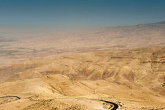 Mount Nebo, Asia. Holy Land, view from the Mount Nebo, the place where Moses was granted a view of the Promised Land that he would never enter Royalty Free Stock Photography