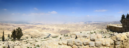 Mount Nebo, place of Moses grave stock photo