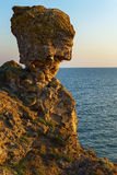 Mount of Nefertiti at dawn. Karalar regional landscape park in Crimea. Royalty Free Stock Photos