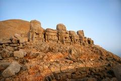 Mount Nemrut. Heads of Commagene & Armenian gods on Mount Nemrut, Turkey Stock Photography