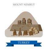 Mount Nemrut in Turkey attraction tourist attraction landmark Stock Image