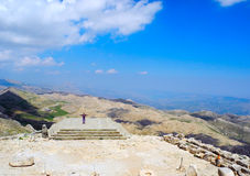 On Mount Nemrut, Turkey. High on Mount Nemrut in the south-east of Turkey royalty free stock photos