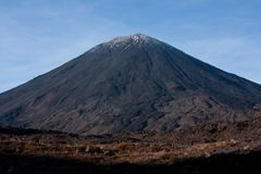 Mount Ngauruhoe / Mt. Doom at the Tongariro Great Walk in the North Island in New Zealand. Mount Ngauruhoe / Mt. Doom at the Tongariro Great Walk in New Zealand royalty free stock photography