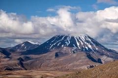 Mount Ngauruhoe in Tongariro National Park Stock Photos