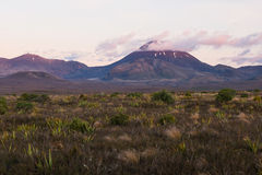 Mount Ngauruhoe volcano, New Zealand Stock Photography