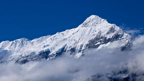 Mount Nilgiri in Mustang in the Himalayas Stock Photo