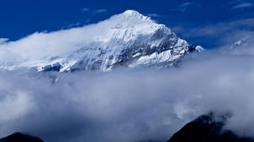 Mount Nilgiri in Mustang in the Himalayas Stock Image