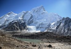 Mount Nuptse from Kala Pattar in the Everest. Base camp trek in Nepal Stock Photos
