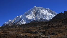 Mount Nuptse seen from Lobuche Royalty Free Stock Images