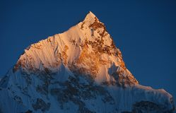 Mount Nuptse at sunset Stock Images
