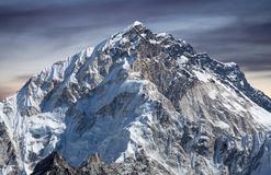 Mount Nuptse view from Everest Base Camp, Nepal. Mount Nuptse view from Everest Base Camp, Sagarmatha National Park, Nepal Himalayas Stock Images