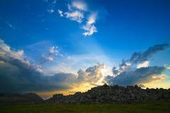 Mount Nurgush top Ural Russia Stock Image