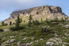 Mount Nuvolau at sunrise, Dolomites, Veneto, Italy Royalty Free Stock Image