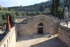 Mount of Olives, предсердие в церков St Mary и усыпальница девственницы, Иерусалима стоковое изображение