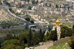 Mount of olives. Russian Church, Mount of olives, Jerusalem Royalty Free Stock Image