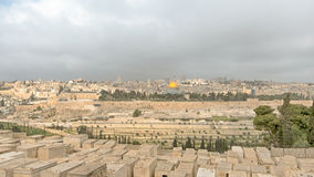 Mount Of Olives, Dome Of The Rock, Temple Mount, Jerusalem, Isra Royalty Free Stock Photo