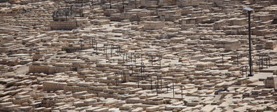 Mount of Olives forntida kyrkogård, Israel Arkivbild