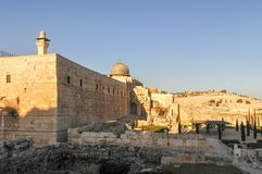 The Mount of Olives in Jerusalem Royalty Free Stock Photos