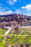 Mount of Olives, Jerusalem. Church of All Nations and Mary Magdalene Convent on the Mount of Olives, Jerusalem, israel royalty free stock photo