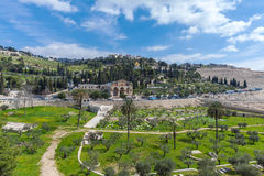 Mount of Olives, Jerusalem. Church of All Nations and Mary Magdalene Convent on the Mount of Olives, Jerusalem, israel stock image