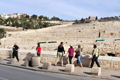 Mount of Olives in Jerusalem Israel Royalty Free Stock Image