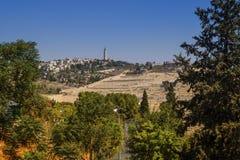 Mount of Olives Jerusalem, Israel arkivbild