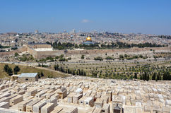 Mount of Olives Jewish Cemetery in Jerusalem - Israel Stock Images