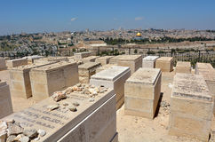 Mount of Olives Jewish Cemetery in Jerusalem - Israel Royalty Free Stock Image