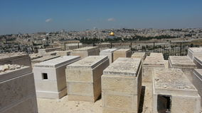 Mount of Olives Jewish Cemetery in Jerusalem, Israel. stock video footage