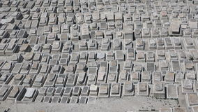 Mount of Olives Jewish Cemetery in Jerusalem, Israel. stock footage