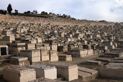 Mount of Olives Jewish Cemetery - Jerusalem - Israel Stock Photography