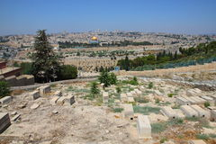 Mount of Olives on Old Jerusalem, Israel Royalty Free Stock Image