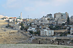 Mount of Olives and Silwan Village Royalty Free Stock Photos
