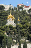 Mount of Olives, view from the walls of Jerusalem. Royalty Free Stock Image