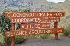 Mount Oloonongot signpost in Kenya, Africa Stock Images