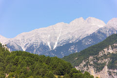 Mount Olympus - highest peak in Greece Stock Photo