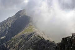Mount Olympus. View of a steep mountainside of the mythical mountain stock images