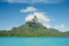 Mount Otemanu at Bora Bora. Mount Otemanu at spectacular Bora Bora in French Polynesia Royalty Free Stock Image