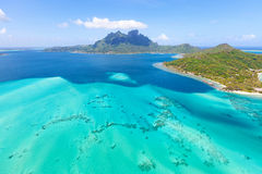 Mount otemanu at bora bora. View from helicopter at mount otemanu at bora bora island, french polynesia Royalty Free Stock Photography