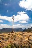 Mount Pai Inácio in Chapada Diamantina. Chapada Diamantina National Park in Bahia, Brazil. Here is the cross on the top of the mount Pai Inácio stock photo