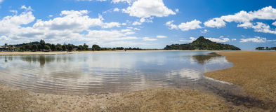 Mount Paku. Seen from Tairua town, Coromandel Peninsula, New Zealand. Panorama Stock Photography