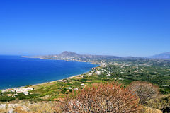 Mount panorama Greece, island Crete. Greece, island Crete view from mount panorama of the Bay of Souda Royalty Free Stock Photography