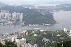 Mount Parker view of east kowloon Stock Images