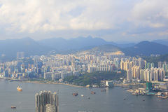 Mount Parker view of east kowloon Royalty Free Stock Images