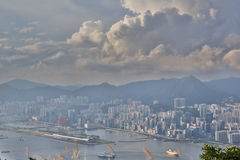 Mount Parker view of east kowloon Stock Image