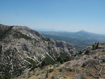 Mount Parnitha National Park, Greece- Chounis Gorge - Attica from Mount Parnes Royalty Free Stock Images
